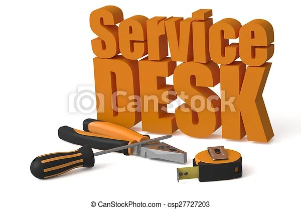 stock illustration of service desk
