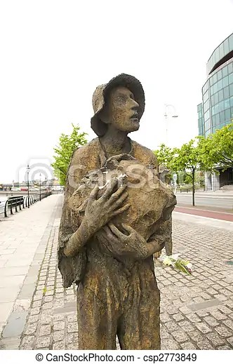 Stock Photographs of sculpture of starving man - irish famine statues at a public... csp2773849 - Search Stock Photography. Photos. Images. and ...