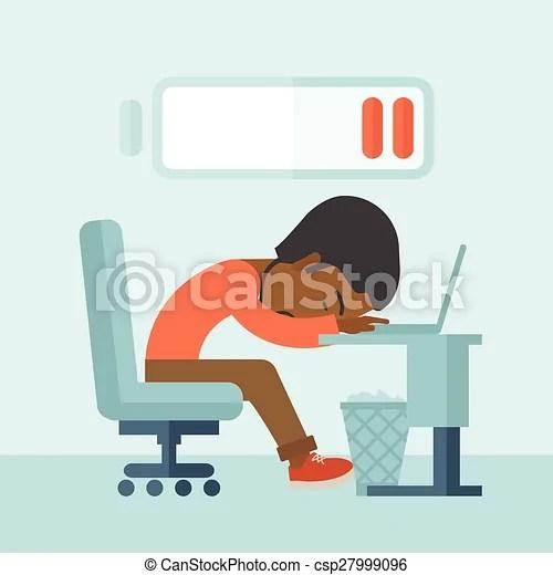 eps vectors of employee fall asleep