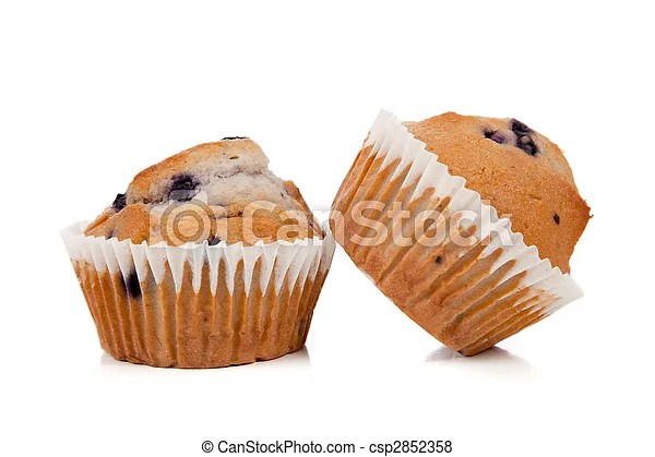 Pictures of Blueberry muffins on white Blueberry muffins