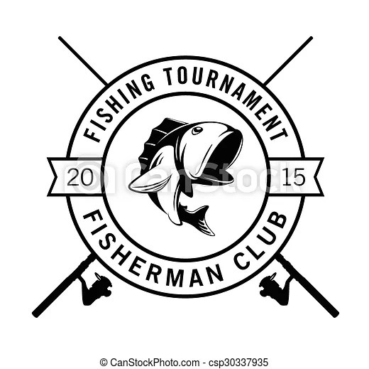 Vectors of Fishing tournament fisherman club badge