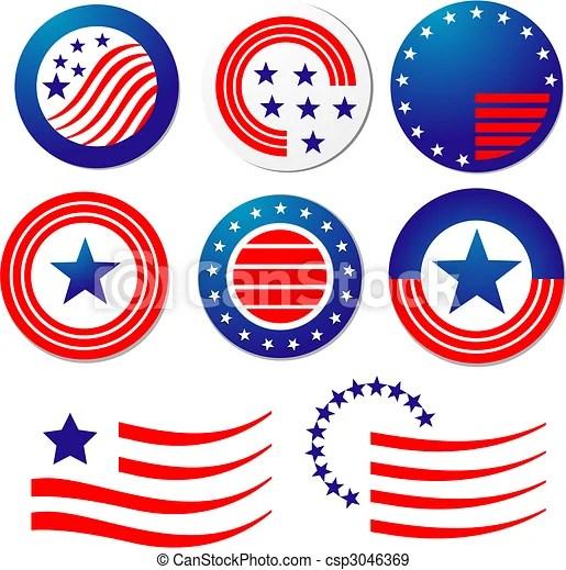 eps vectors of american patriotic
