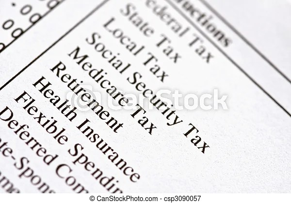 Pay Deductions Clip Art