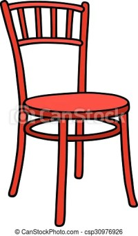 Vector Illustration of Red chair - Hand drawing of a ...