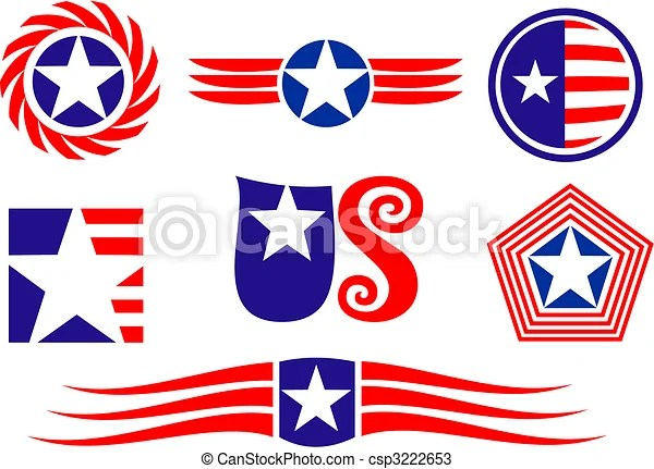 vectors of american patriotic symbols