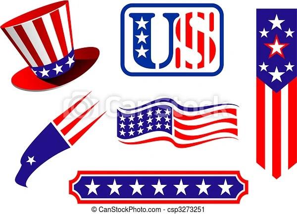 vector clip art of american patriotic