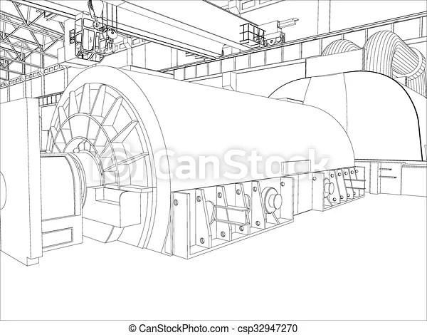 Vectors Illustration of Illustration of equipment for