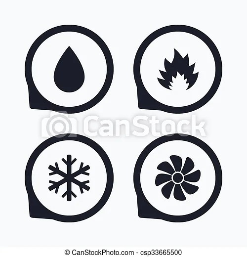 Vector Clipart of HVAC. Heating, ventilating and air