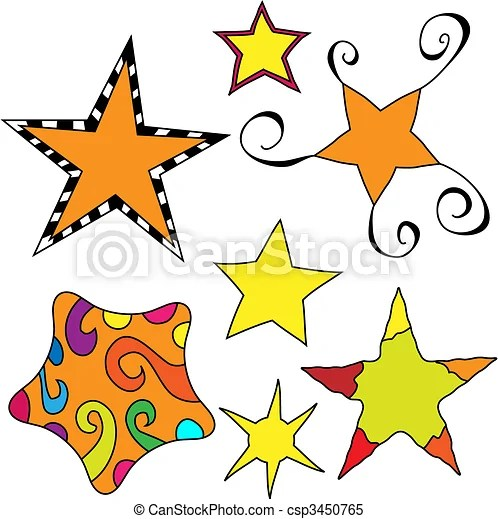 clipart vector of whimsical star