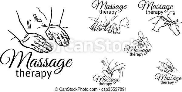 EPS Vectors of Therapeutic manual massage. Medical therapy