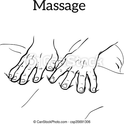 Vector Clipart of Therapeutic manual massage. Medical
