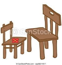 Vector Clip Art of chairs - small and big chair cartoon ...