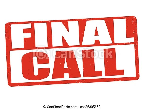 clip art vector of final call stamp