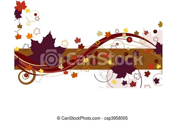 clipart vector of autumn leaves