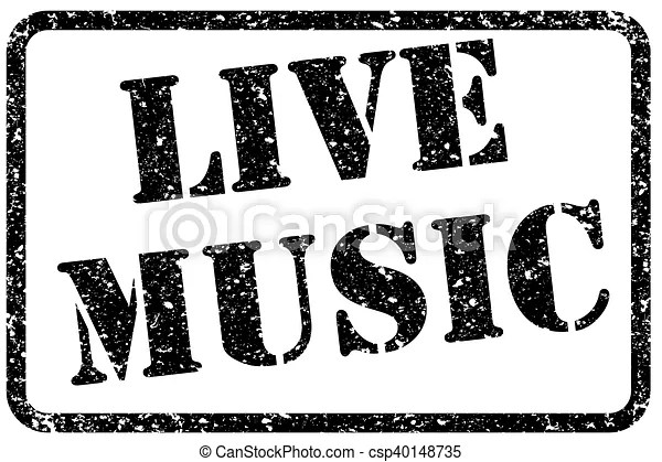 vectors of live music stamp csp40148735