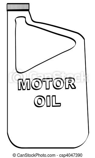 Outline Of Plastic Motor Oil Bottle Stock Illustration