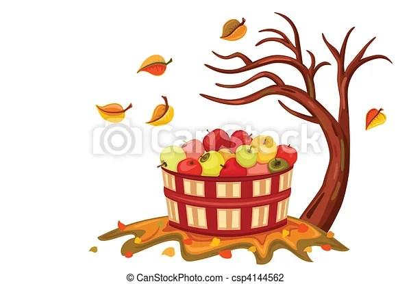 vector illustration of rich apple