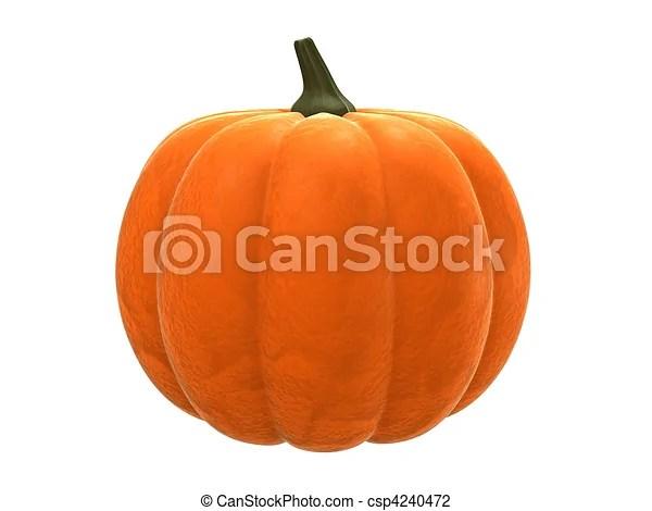 clip art of pumpkin - 3d rendered