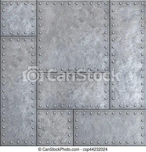 Stock Photo of Old metal plates with rivets seamless