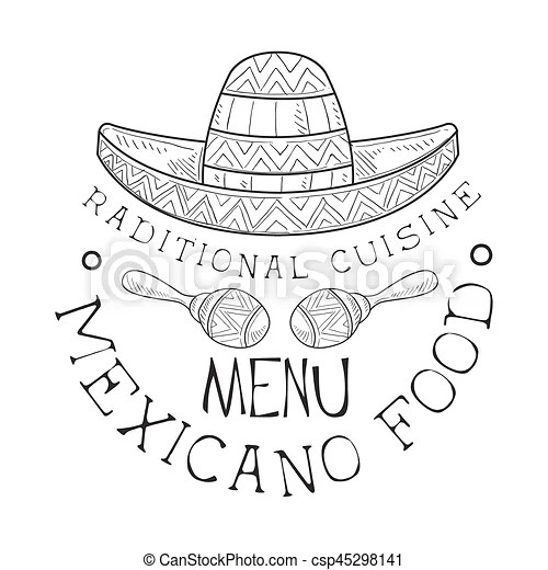 EPS Vector of Restaurant Traditional Mexican Cuisine Food