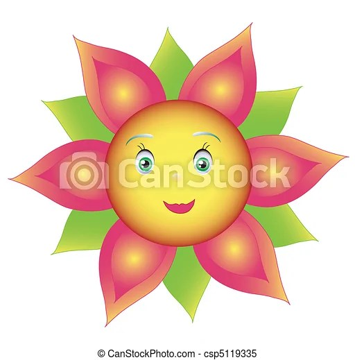 clipart vector of smile colored