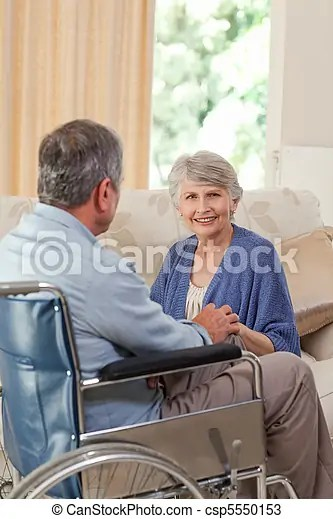 Stock Photos of Senior couple talking in the living room