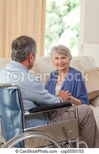 Stock Photos of Senior couple talking in the living room ...
