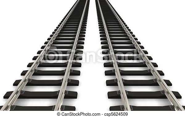 Stock Illustration of Two railroad tracks csp5624509