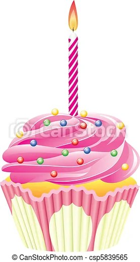 clipart vector of cupcake