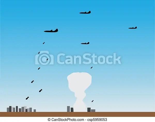 vectors of planes put bombing attack