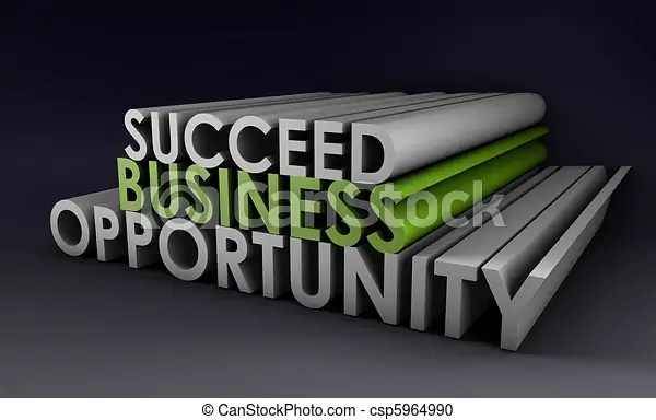 Stock Illustration of Business Opportunity and the Need to Succeed csp5964990 - Search Clipart, Illustration, Drawings and Vector EPS Graphics Images