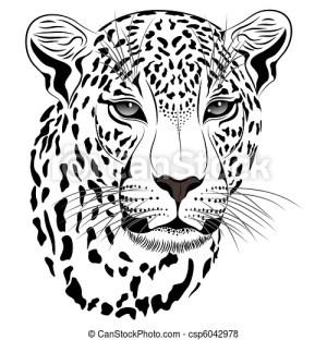 Vettore di leopardo, tatuaggiocsp6042978  Cerca clipart