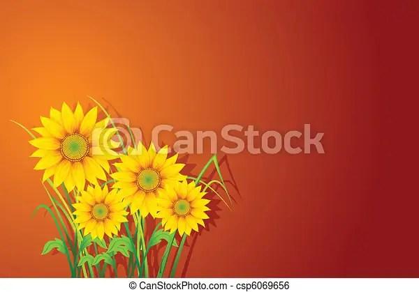 clip art vector of sunflower background