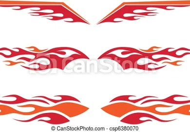 Motorcycle Clip Art With Flames