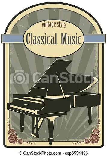 clip art vector of classical music
