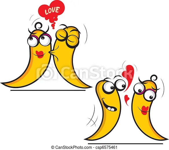 vector clip art of flirt - illustration