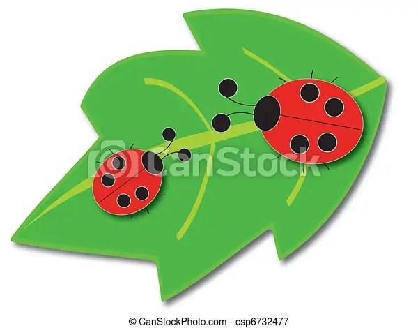 ladybugs leaf - royalty free