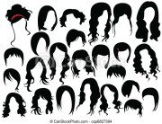 eps vector of hair design csp6827394