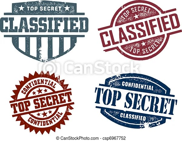 Top Secret Classified Stamps - csp6967752