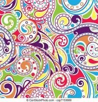 EPS Vectors of Retro Funky Scroll Pattern 4 - Illustration ...