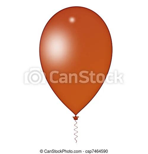 stock illustration of brown balloon