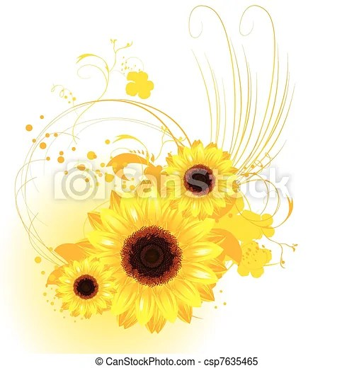 clipart vector of orange background