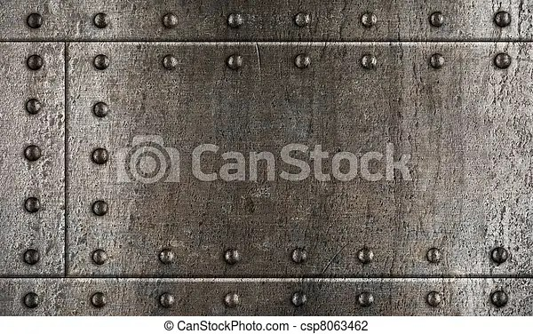Stock Photo of armour metal background with rivets