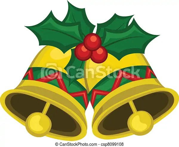 vector of christmas bells ornament