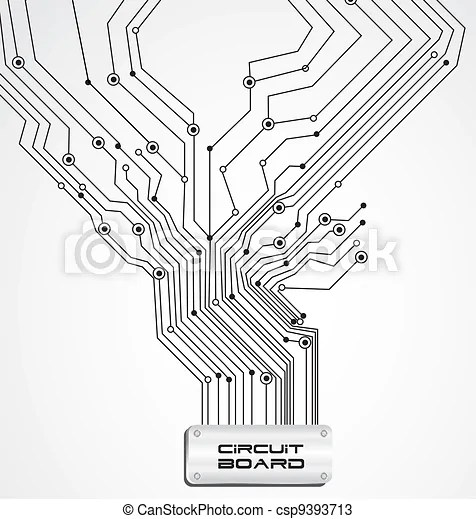 Vectors of circuit board on white background, vector