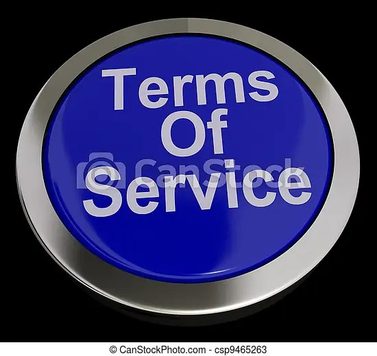 Stock Photos Of Terms Of Service Computer Button In Blue