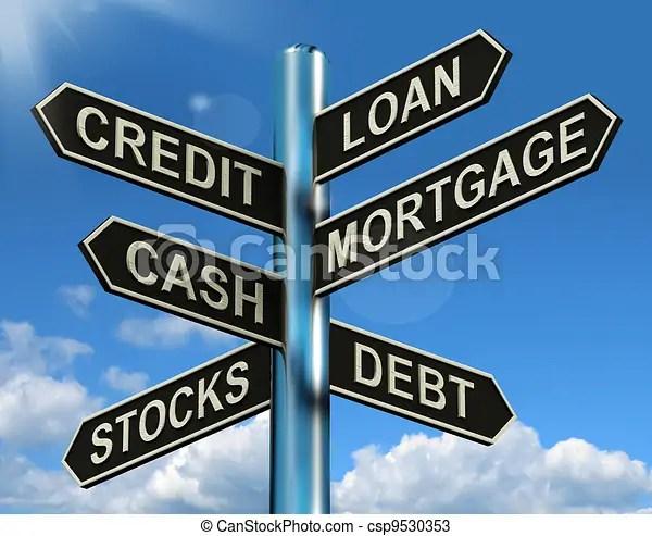 drawings of credit loan mortgage