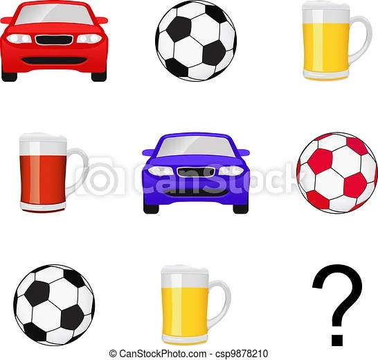 Vector Clipart of IQ test for men - IQ test question comprised by images of... csp9878210 - Search Clip Art. Illustration. Drawings and Vector EPS ...