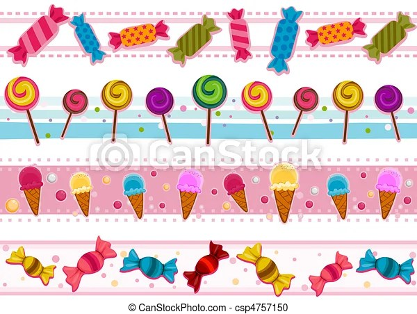 Cute Owl Wallpaper Border Candies Borders Four Border Designs Of Candies And Other