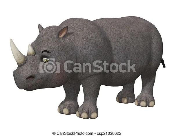 cartoon 3d rhino